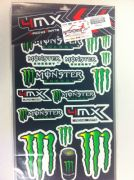 4MX Monster sticker set